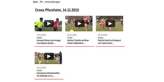 Videos vom Sparkassen Cross (Screenshot leichtathletik.de)